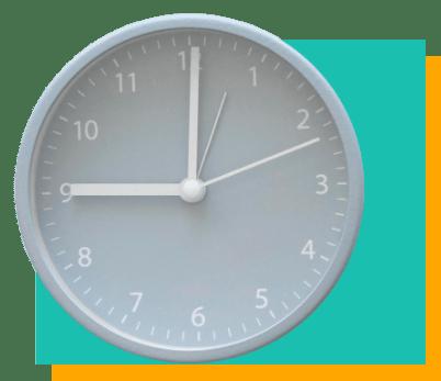 Relógio ilustrando organização do tempo