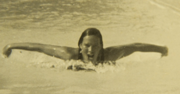 A nadadora Maria Lenck - Mulheres no esporte